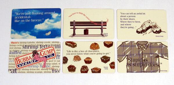 1994 Paramount Forrest Gump Credit / Wallet Card Set (6)