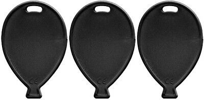 Black Plastic Balloon Shape Weights For Latex & Foil balloons](Black Balloon Weights)
