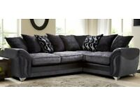 Stunning 9mths Old DFS Charcoal Combination Left Hand Corner Sofa