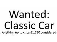 Looking for a cheaper classic car (up to circa £1,500-£1,750)