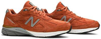 New Balance 990v4 Made In USA Jupiter Shoes Burnt Orange M990JP4 Men's Size 11