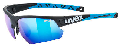 Uvex Fahrradbrille Sportbrille sportstyle 224 black mat blue