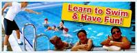 Private swimming lessons available