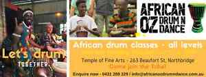 African drum classes all levels Perth Northbridge Perth City Area Preview