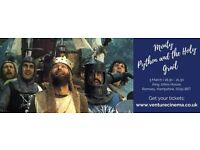 Monty Python and the Holy Grail showing at King John's House, Romsey on 3rd March at 7.30pm