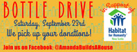 Bottle Drive in Support of Habitat for Humanity