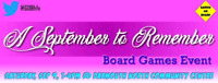 Free Board Games Event, Sep 9 - A September to Remember