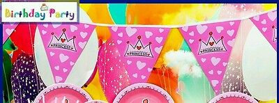 Party flag banner princess theme , baby shower , birthday , kids parties - Princess Theme Baby Shower Decorations