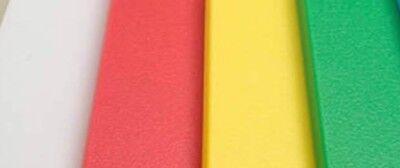 "(Colored (HDPE) Cutting Board 0.500"" - 1/2"