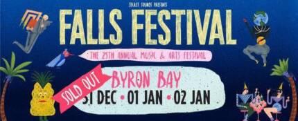 2 x 2 day Falls Festival Byron tickets 31/12 & 01/01