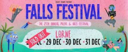 1 x Falls Festival - Lorne 4 Day Ticket with Camping