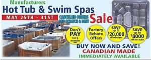 HOT TUB & SWIMSPA SALE - CANCELLED ORDERS, SCRATCH&DENTS, DEALS