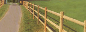Wooden Fence Posts and Rails