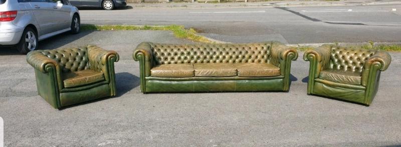 Prime Vintage Chesterfield 3 Piece Suite In Llanelli Carmarthenshire Gumtree Uwap Interior Chair Design Uwaporg