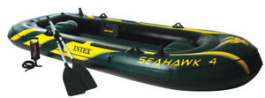 Intex Seahawk 4 Inflatable Boat durable material great condition