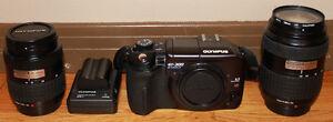 Olympus EVOLT E-300 Digital SLR Camera, 45mm & 150mm Lens