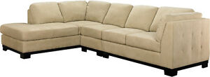 Price drop! Ultrasuede Sectional Worth $2400+