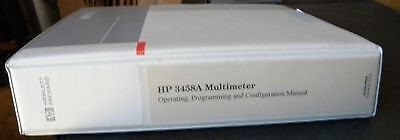 Hp 3458a Multimeter Operating Programming Serv Manual