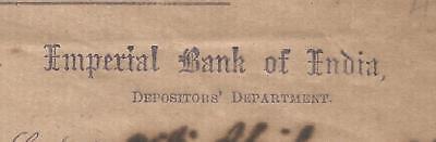 1921 Imperial Bank of India SAFE CUSTODY RECEIPT sd- Dy Secretary and Treasurer