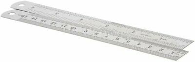 15cm Double Side Stainless Steel Measuring Straight Ruler Tool 6 inches Home & Garden