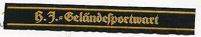"GERMAN WWII ORIGINAL GELANDESPORTWART "" FIELD SPORTS ATTENDANT CUFFTITLE"
