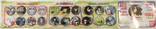 Inuyasha Tin Badge Bandai Full set brand NEW
