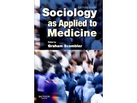 Sociology as applied to medicine - sixth edition. Graham Scambler