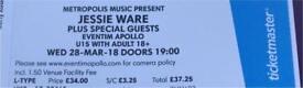 Jessie Ware tickets x 2 Hammersmith Apollo