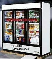 TRUE THREE DOOR GLASS FREEZER AND COOLER - IN STOCK NOW!!!