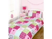 Have one to sell? Sell it yourself BRAND NEW PATCHWORK GIRL'S BEDROOM SINGLE DUVET