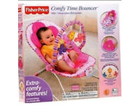 Baby Bouncer Fisher Price Cosy Time Pink