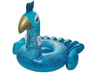 Brand New Inflatable Ride-on Peacock Pool Float