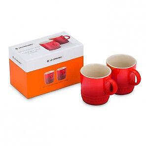 Set of 2 Le Crueset espresso cups - NEW