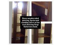 Heavy wooden Free standing shelves