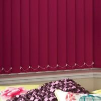 vertical blinds - burgundy