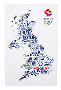 LONDON OLYMPICS 2012 SOUVENIR TEA TOWEL BY ULSTER WEAVERS OFFICIAL MERCHANDISE