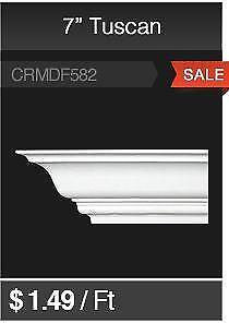 """7"""" Tuscan Crown Moulding On Sale!!"""