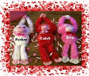 Valentines Day Personalized Plush Monkeys $5