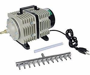 New, Active Aqua Commercial Air Pump, 12 Outlets, 112W, 110 L/min (open box)