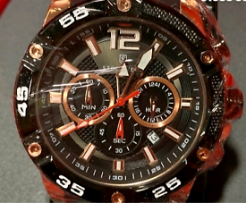 MEN'S STOCKWELL CHRONOGRAPH WATCH, LIMITED EDITION MOTOR SPORT ISSUE.