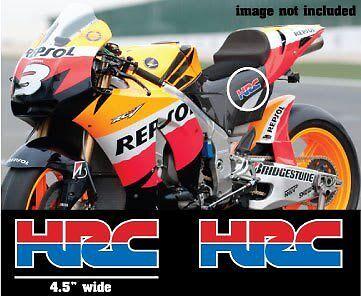2X Hrc Honda Stickers 4 5  Cbr Rc31 Repsol Decals Logo Stickers Motogp