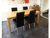 Solid Oak 6 Seater Dining Room Table
