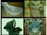 4 baby items with free musical toy