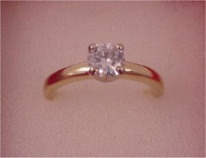 Moissanite Solitare Ring Prince George British Columbia image 1