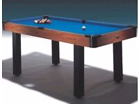 Pool Table Honey Maple Half Size