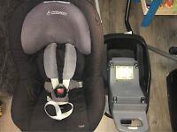 Maxi-cosi pearl car seat with familyfix isofix base