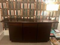 Danish Teak Sideboard By Gangso Mobler with pull out tiled serving tray