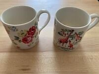 2 Cath Kidston 250ml Fine China Safari mugs