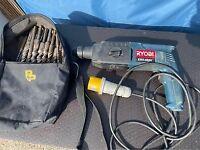 SDS Ryobi 110v 600w hammer/chisel drill & large bag of SDS drill bits, collection Clavering