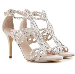 NEVER WORN - ITALIAN MADE SWAROVSKI CRYSTAL HEELS
